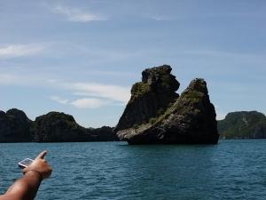 Вулканические скалы в Таиланде