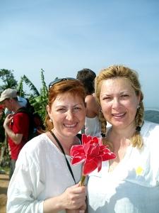 Туристы в Таиланде с цветком имбиря
